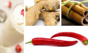 Кефир, имбирь, корица, красный перец для похудения