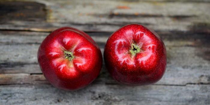 Два красных яблочка