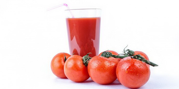 Сок и помидоры